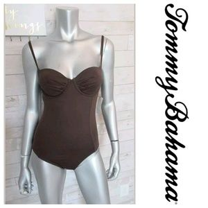 Nwt Tommy Bahama Pearl Underwire Demi 1pc Swimsuit